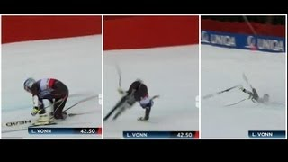 FULL RUN and ANALYSIS Lindsey Vonn crash at the World Championship - Schladming SG