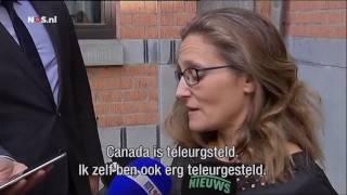 Canadese minister van Handel Freeland over CETA  NOS