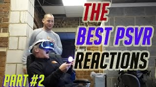 The Best Playstation VR Reactions Compilations! Funny Virtual Reality VR Reactions Moments