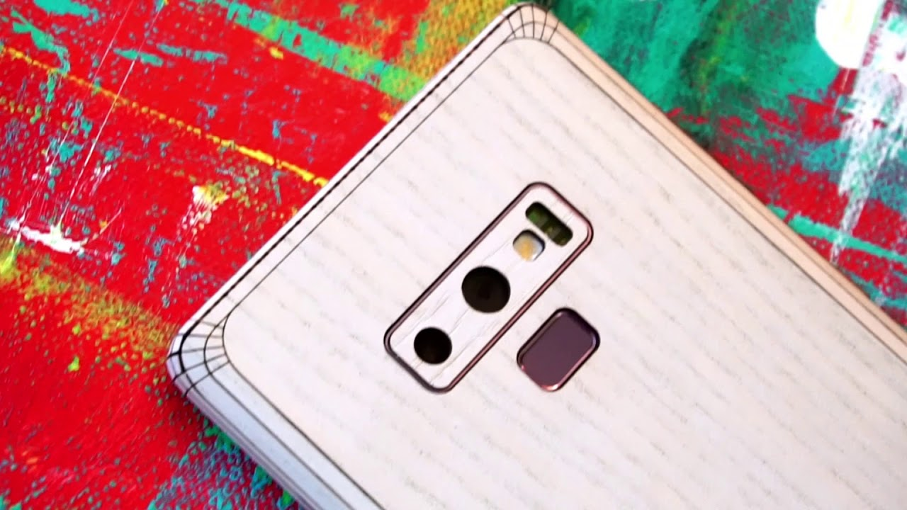 565ec1260a6 Toast real wood covers for Galaxy Note 9 - YouTube