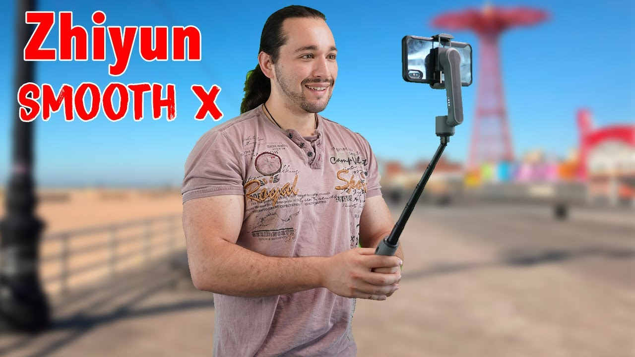 SMALLEST Smartphone GIMBAL With Built-In Selfie Stick! - Zhiyun Smooth X