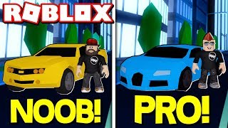 NOOB VS PRO in ROBLOX JAILBREAK / WHO CAN MAKE MONEY FASTER?! / BLOX4FUN