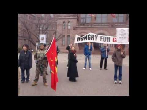 Toronto in solidarity with Waglisla (Bella Bella) fast to Protest Enbridge Pipeline - Day 1.