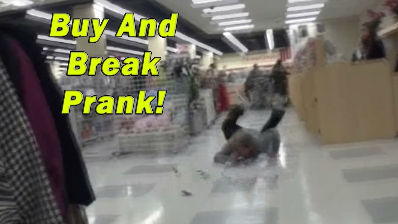 'Buy and Break' Public Prank