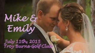 Emily & Mike Klotz Wedding - Troy Burne Golf Course