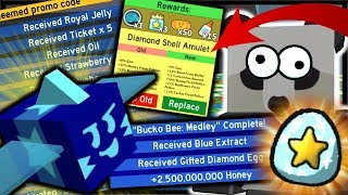 *NEW* CODE, FREE GIFTED DIAMOND EGG & 2.5 BILLION REWARD! | Roblox Bee Swarm Simulator