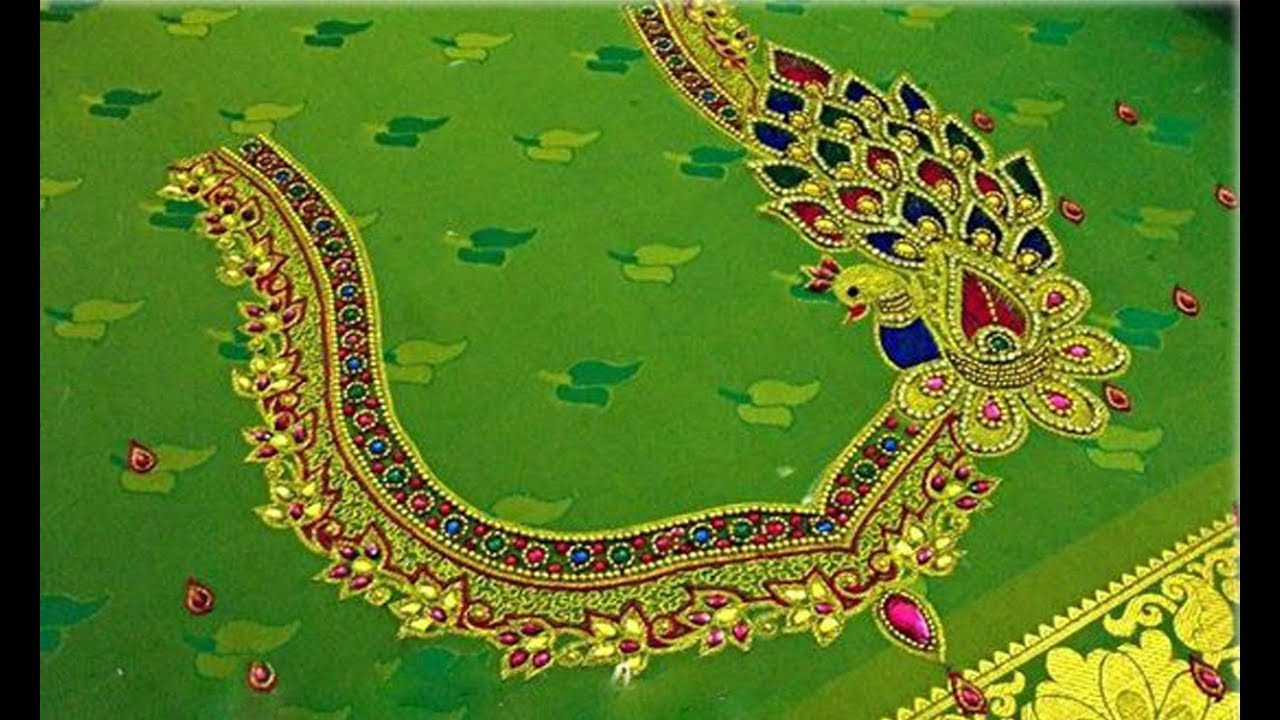 Latest Maggam Work And Aari Work Blouse Back Neck Patterns Maggam Work Blouse Designs Simple Images Youtube,Simple Wedding Cake Designs