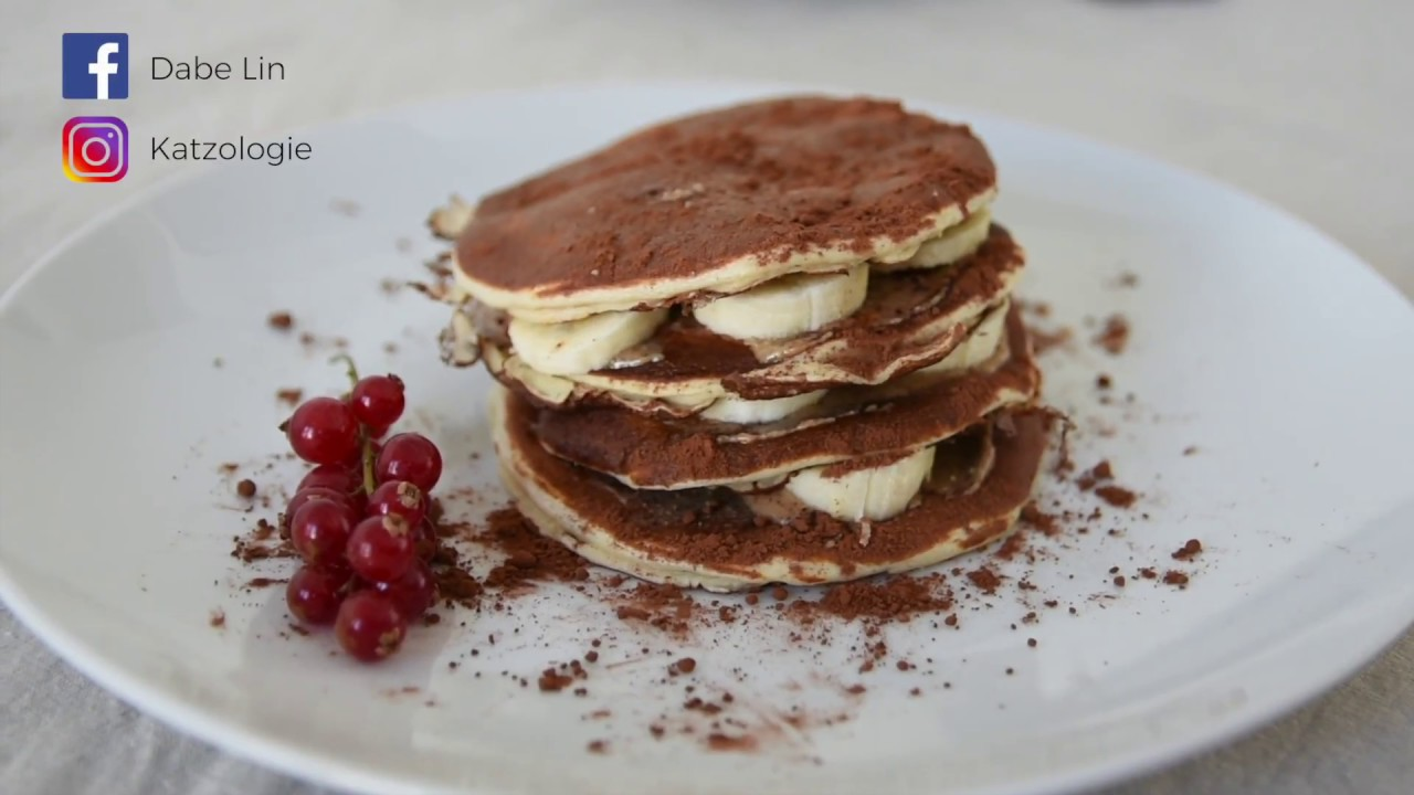 Myprotein pancake mix 美味高蛋白巧克力香蕉鬆餅塔 - YouTube