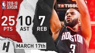 Chris Paul Full Highlights Rockets vs Timberwolves 2019.03.17 - 25 Pts, 10 Ast, 7 Reb!