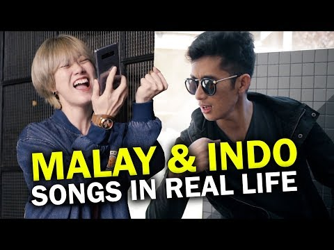 Malay & Indonesian Songs In Real Life