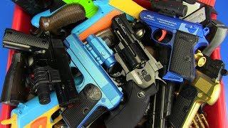 Toys Gun ! Box of Toy Guns - Realistic Toy Gun ! Airsoft,Nerf,Soft Bullet