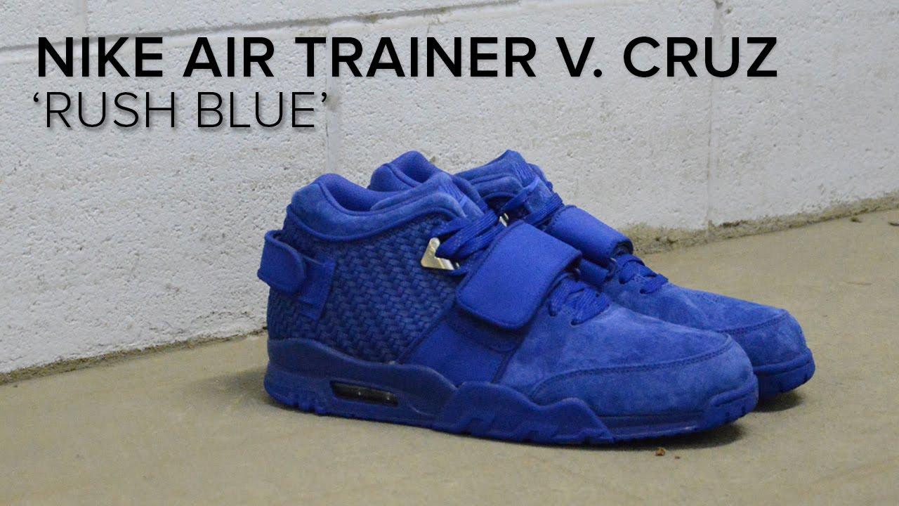 0bad67a1c955 Nike Air V. Cruz Trainer  Rush Blue  Quick On Feet Review - YouTube