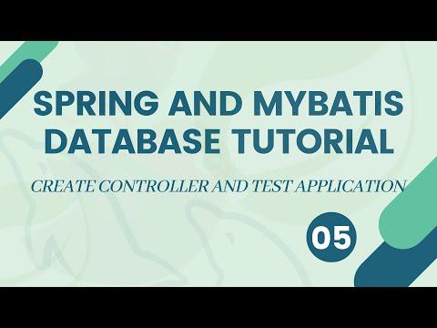 Spring MVC and MyBatis/iBatis Database Tutorial - Create controller and test application - #05 thumbnail