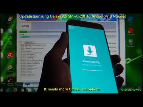 Update Samsung Galaxy A5 SM-A520F to Android 7.0 Nougat