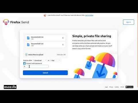 Teletraballo: Pílula sobre envío de arquivos grandes con Firefox Send