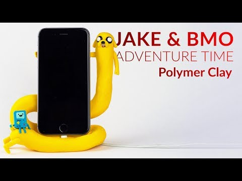 Jake & BMO (Adventure Time) Phone Charging Dock – Polymer Clay Tutorial