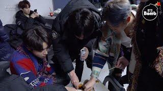 [BANGTAN BOMB] Snack time! @181225 SBS 가요대전 - BTS (방탄소년단)