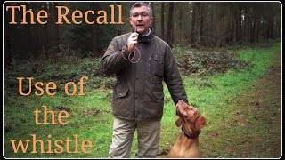The Recall. Use Of The Dog Whistle.