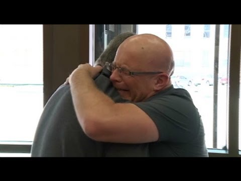 Emotional reunion between cop and arrested drunk driver