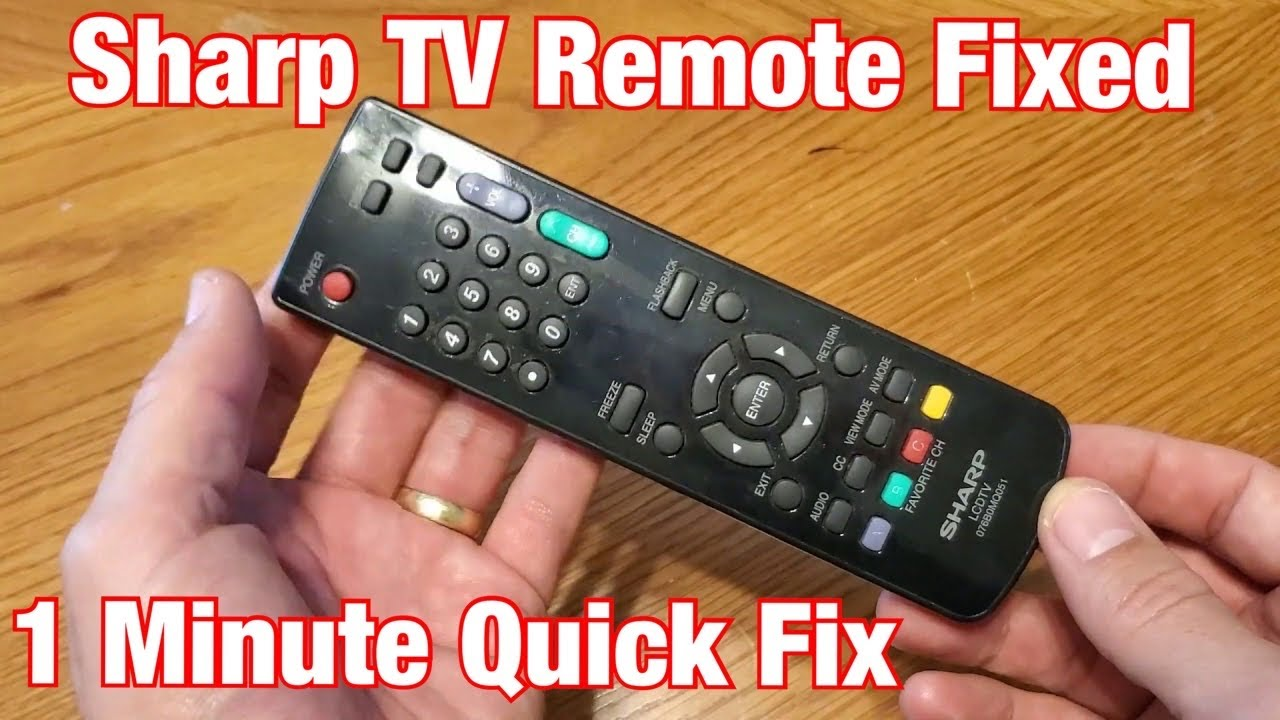 Sharp TV Remote Control Fixed in 1 Minute: Won't Turn on TV, Buttons Not Working etc