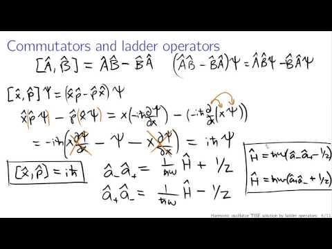 Quantum harmonic oscillator via ladder operators