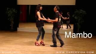 3 Salsa Cuban Basic Steps: Couple Mambo rumba cumbia