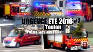 -URGENCE ÉTÉ 2016 #2-  [TOULON] (SDIS 83) VSAV 1-2-3-4, FPT, FPTL, VSR // Toulon fire department
