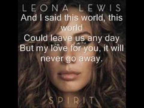 Leona Lewis-Angel w/lyrics