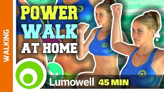 45 Minute Walking Cardio Workout At Home To Lose Weight And Belly Fat