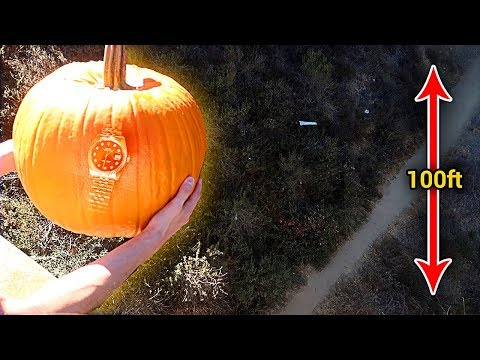 Download Youtube: CAN A PUMPKIN PROTECT A $10,000 ROLEX FROM 100 FOOT DROP?!