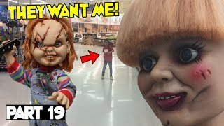 Evil Doll Annabelle mailed to us FREAKS US OUT and haunts us like a SCARY CLOWN - Part 19