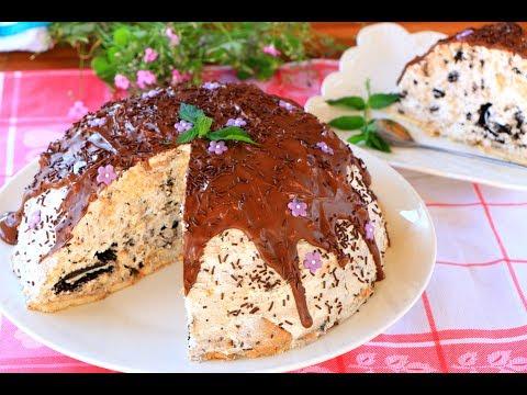 Sladoled torta sa oreo keksom - Nepečena