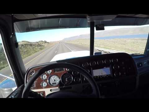 2018 389 Peterbilt on I-84 west in Oregon clip #2 ( vlog # 5 )