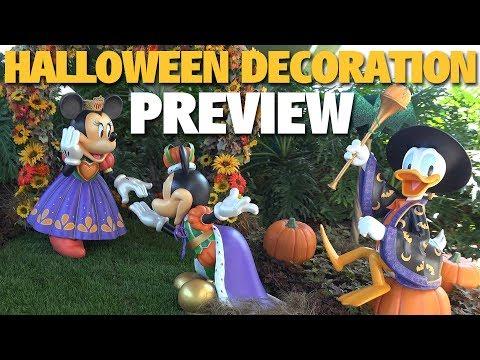 Halloween Decoration Preview | Disneyland Resort