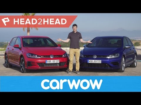 Volkswagen Golf R vs Golf GTI Performance 2018 review | Head2Head