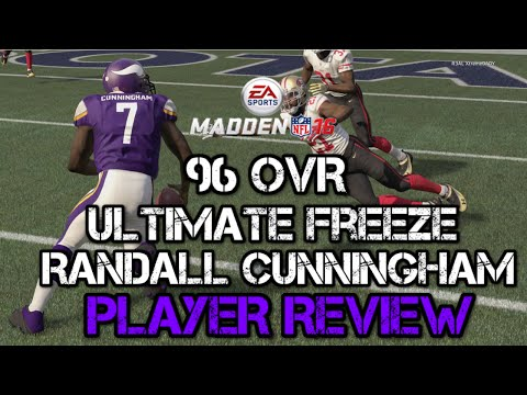 96 OVR Ultimate Freeze Randall Cunningham | Player Review | Madden 16 Ultimate Team Gameplay | MUT 1
