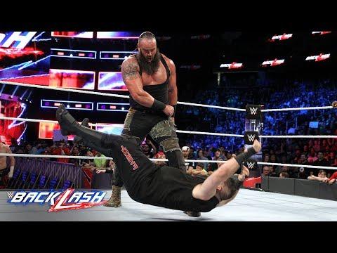 Sami Zayn runs for cover as Braun Strowman decimates Kevin Owens: WWE Backlash 2018 (WWE Network)