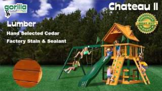 Blue Ridge Chateau Ii Swing Set By Gorilla Playsets - Swingsetmall.com