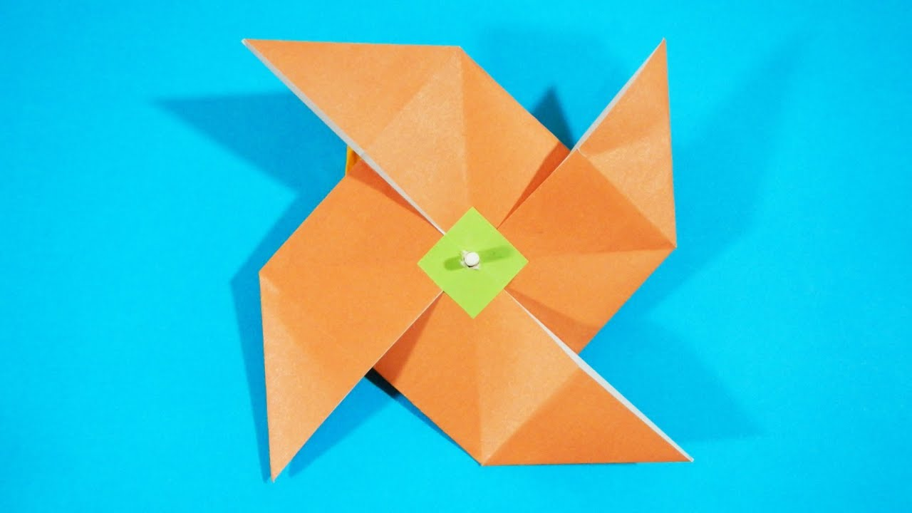 Papercraft Origami - How to make a Windmill