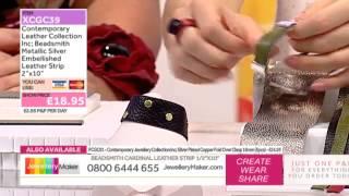 How to Make Leather Jewellery: JewelleryMaker LIVE 2/09/2015