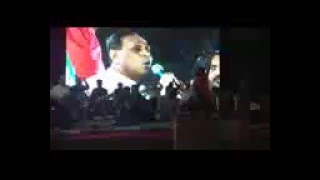 gujarat bjp president vijay rupani sings patriotic song in bjym event
