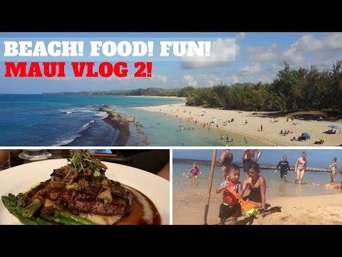 BEACH! FOOD! & DRONE FUN! MAUI VLOG PART 2! (2017)
