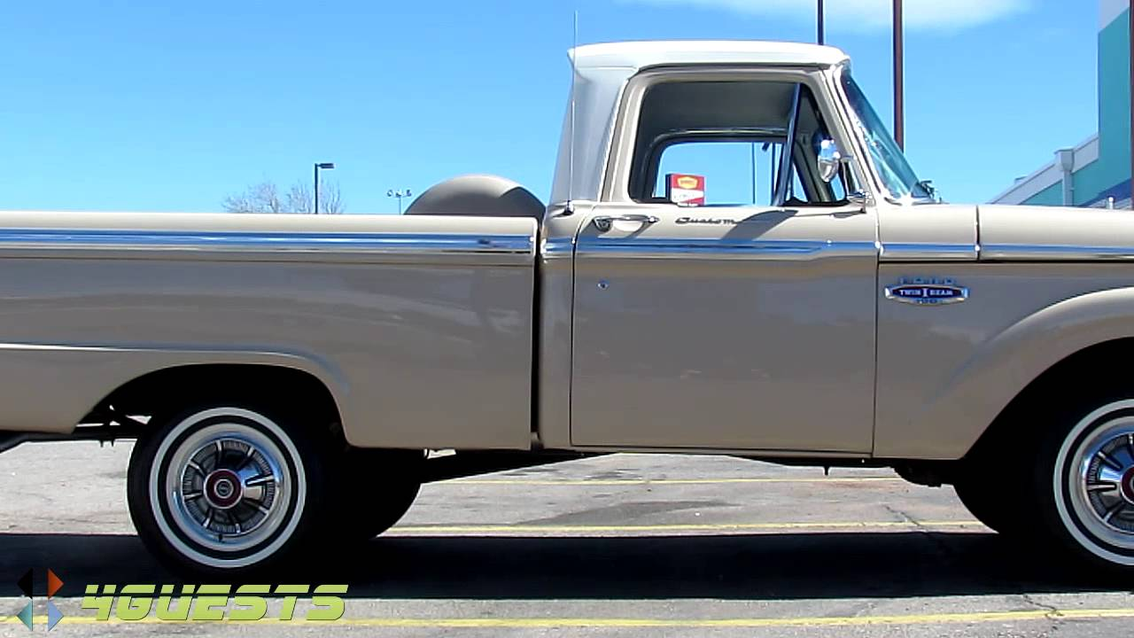 1966 ford f100 pickup truck youtube. Black Bedroom Furniture Sets. Home Design Ideas
