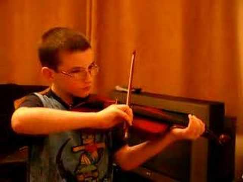 Sean Morris playing Violin aged 10