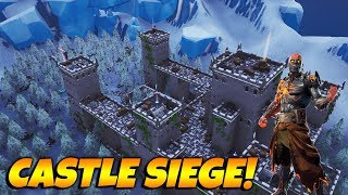 NEW Castle Siege Gamemode In Fortnite! With Code!! Creative Big Builds!