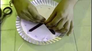 How To Make An Simple Paper Plate Clocks For Kids--easy