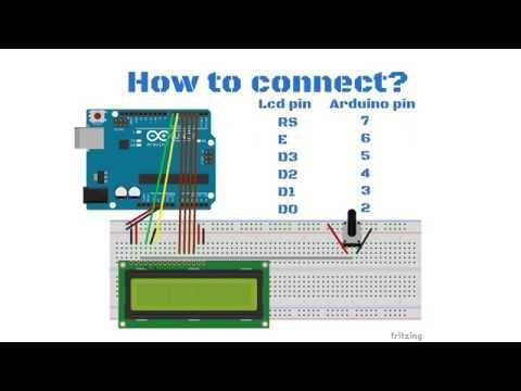 Arduino tutorial: 1602 LCD display