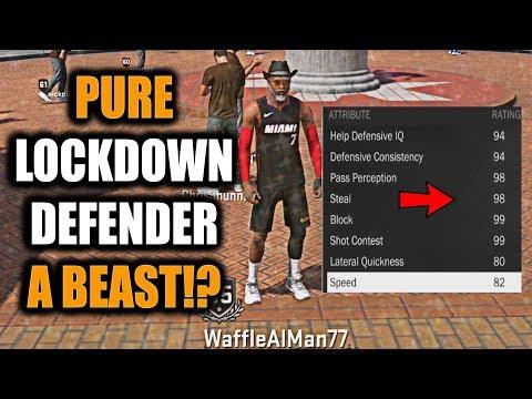 PURE LOCKDOWN DEFENDER A GOD!!? 99 DEFENSE! ALL BADGES! 85 OVR RATINGS!- NBA 2K18