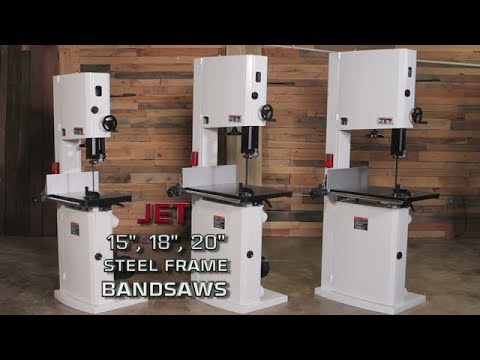Jet 15 18 And 20 Steel Frame Bandsaws Overview By Jet Tools