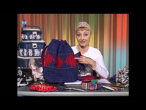 4851e37e81ba Шьем сумки в традиционной технике «уголки» из ситца и шелка. Мастер класс.  Татьяна Лазарева - YouTube